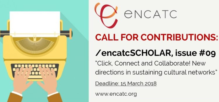 【學會公告】期刊徵稿 CALL FOR CONTRIBUTIONS: /encatcSCHOLAR, issue #09